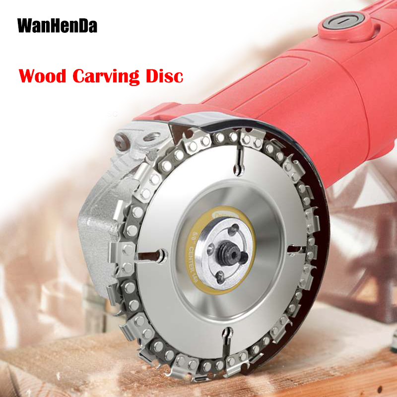 New 4 Inch Grinder Disc And Chain 22 Tooth Fine Abrasive Cut Chain For 100/115 Angle Grinder