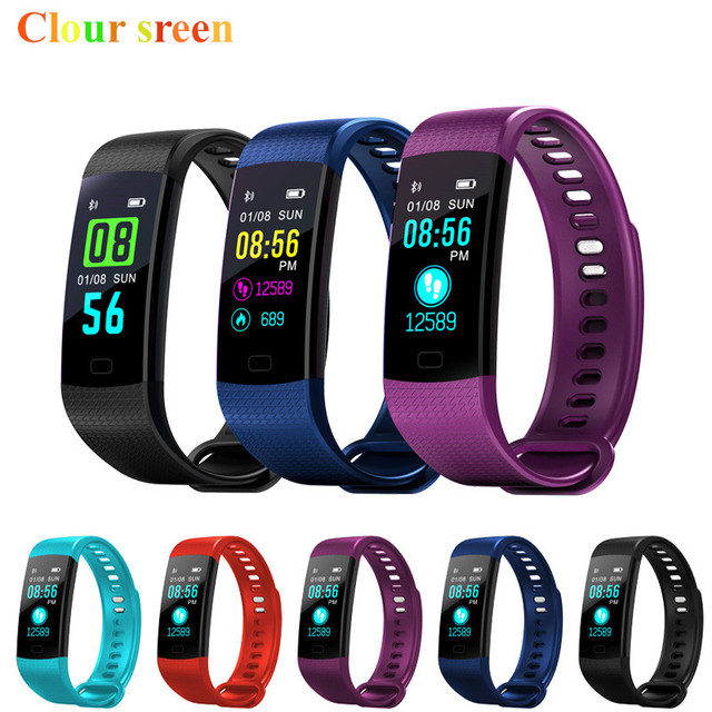 35b2ba8e133b € 31.5 |Y5 Smart Band reloj pantalla a Color Wristband pulsera actividad  Fitness tracker Smartband electrónica pulsera VS Xiaomi Miband 2 en ...