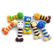 Brand New 10 Animals Design Pet Dog Puppy Crochet Toys Resistance To Bite Scaler Dog Toys Sound Toys Chew hamster W-GZWJ