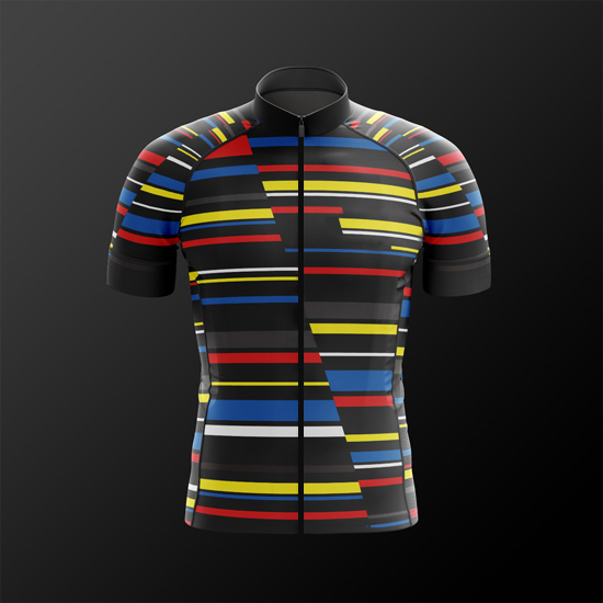 2018 new colourful line pro team aerodynamic fit short sleeve cycling  jerseys High quality bicycle shirt 44e0291a3