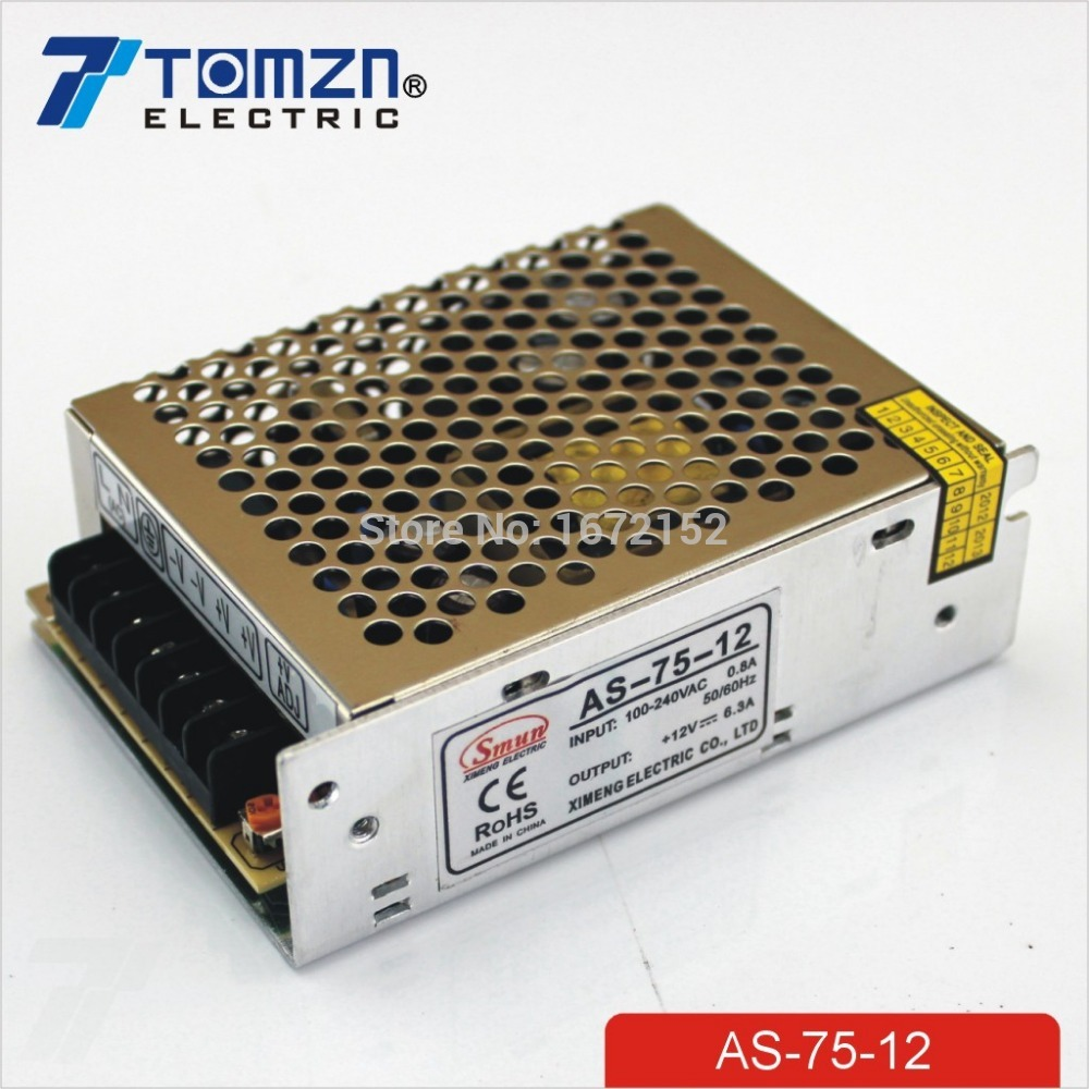 75W 12V Small Volume Single Output Switching power supply for LED Strip light single output high quality small volume