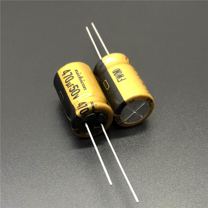 5 stücke/20 stücke 470 uF 50 V NICHICON FW Serie 12,5x20mm 50V470uF HiFi Audio Kondensator