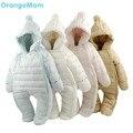 Venda quente! 2017 Do Bebê Do Inverno macacão térmico jecket outerward macacão pato snowsuit vestido ware, casaco de inverno menino da criança