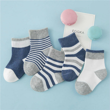 2018New Children's 5Pairs Socks Baby Boys Girls Striped Breathable Comfotable Kid Socks Cotton Socks