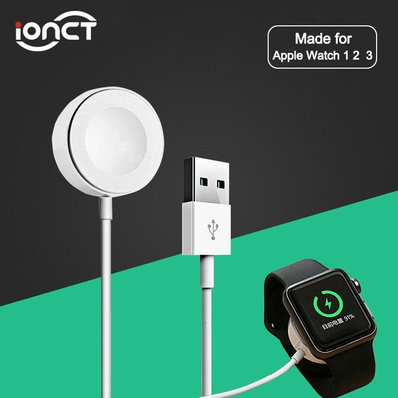2e2e8b42fd8 Cargador de reloj inalámbrico iONCT para iWatch Series 1/2/3/4 Cable de carga  inalámbrica rápida magnética 3,3 pies/1 m para cargador de Apple Watch ...