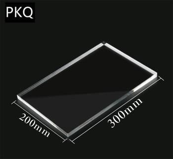 1 pc 20*20 cm de plexiglás de acrílico transparente hoja de plástico Perspex Panel de vidrio orgánico polimetil metacrilato