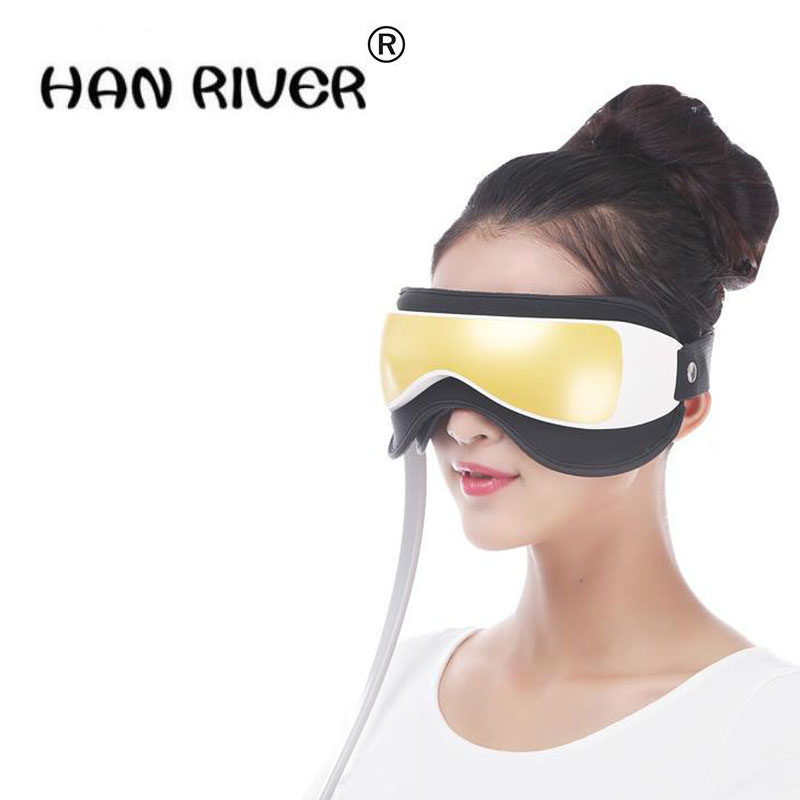 HANRIVER Eliminate pouch, eye magnetic far-infrared heating. The function of eye care mp3.6 eye massager High quality hot sales professional multifunctional far infrared magnetic mp3 dispel eye bags eye care massager relaxation maintain healthier eyesight