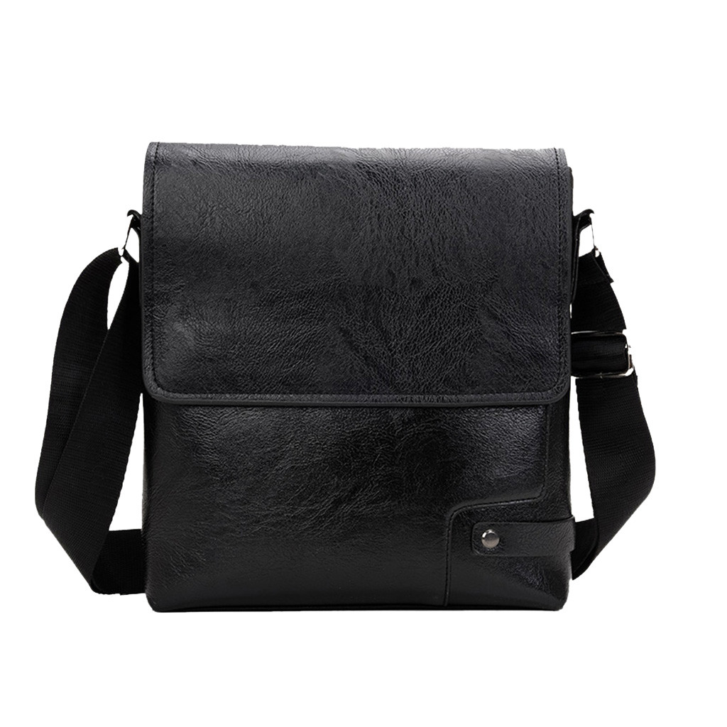 Men's Fashion Business Diagonal Cross Bag Briefcase Solid Satchels Classic Shoulder Bag Synthetic Leather Lining Material Apr 30
