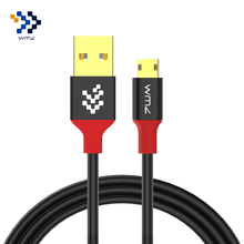WMZ Reversible Micro USB Cable For Samsung S7 Xiaomi Fast Charge Data Cables 2m 1m Android Charging Mobile Phone