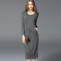 Spring 2017 Couture Dress Waist Slim Knit Dress Standing On Behalf Of A European