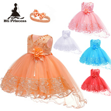 Free Shipping Cotton Lining Infant Dresses 2019 New Style Wh