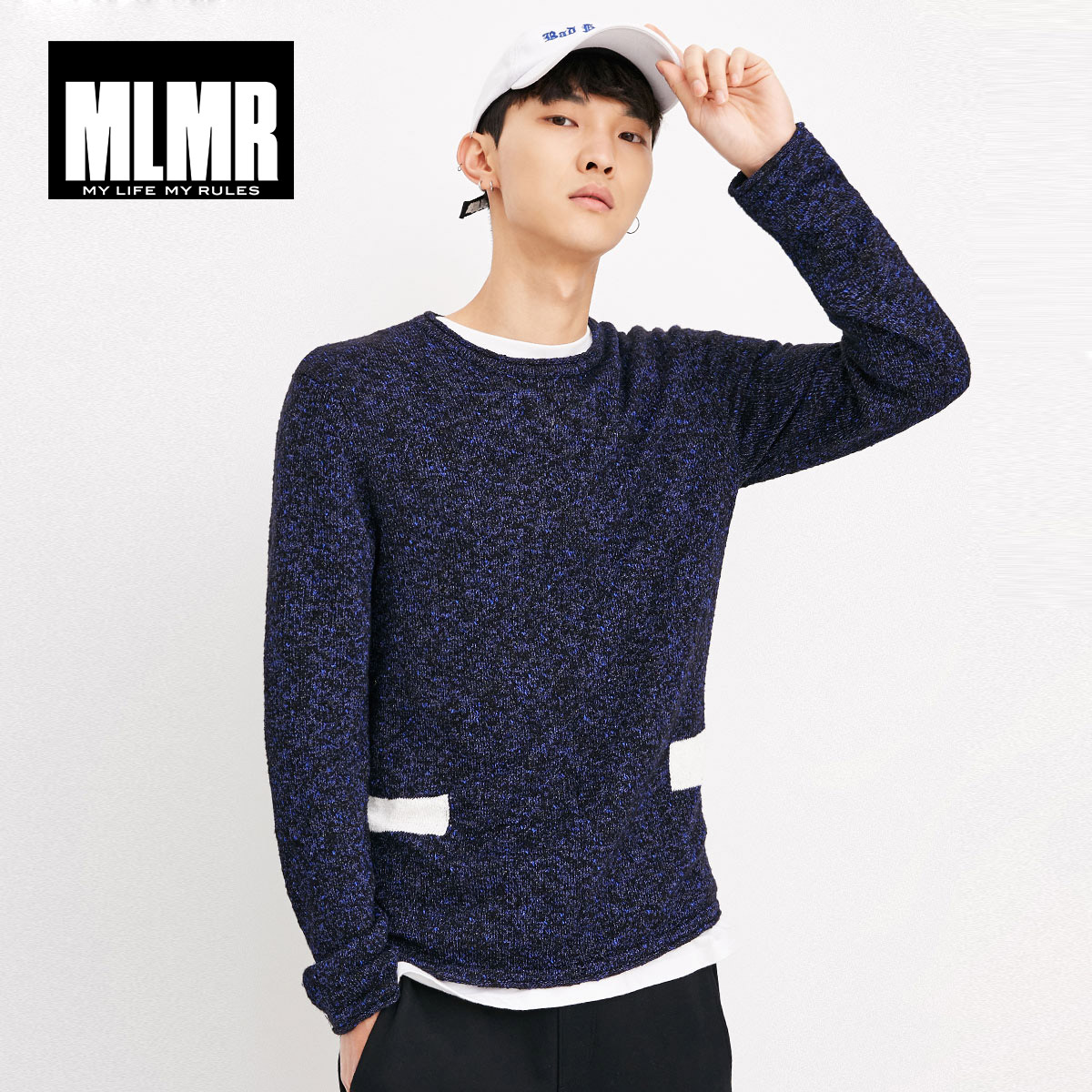MLMR JackJones Men's Round Collar Straight Long Sleeve Knitted Shirt Wool Pullover Men Pull Homme TopM Basic|218324506