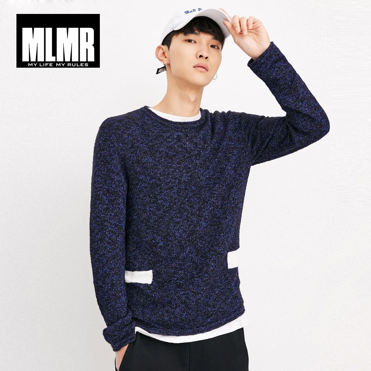 MLMR JackJones Men's Round Collar Straight Long Sleeve Knitted Shirt Wool Pullover Men Pull Homme TopM Basic|218324506