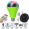 Wireless 6W Bluetooth Speaker LED Bulbs E27 RGBW 16 Millions Dimmable Led Bulbs Music Playing For IOS Android Bluetooth 4.0