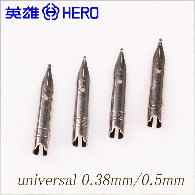 Original HERO Brand Universal Pen Nib 038mm 05mm Calligraphy Small Iridic Gold