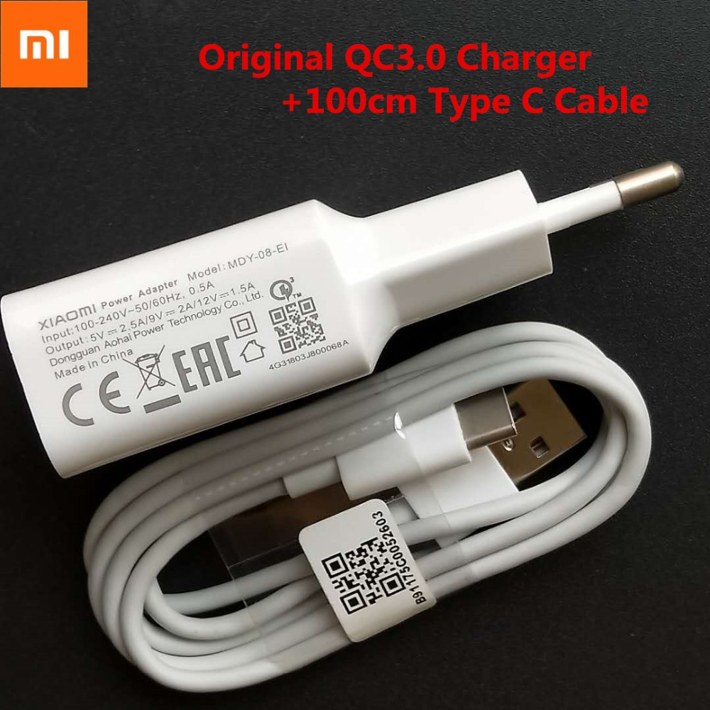 Original Xiaomi Redmi Note 7 Fast Charger Smartphone Usb Adapter 12v1 5a Quick Charge 1m Type C Data Cable For Mi A2 A1 6 Mix 2s Mobile Phone Chargers Aliexpress