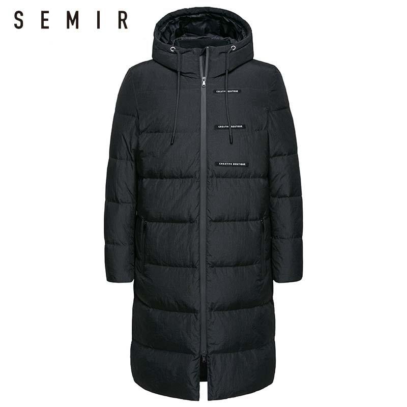 SEMIR doudoune pour hommes chaud épais hiver longue veste vers le bas veste pour homme mode vêtements hommes coupe-vent survêtement occasionnel