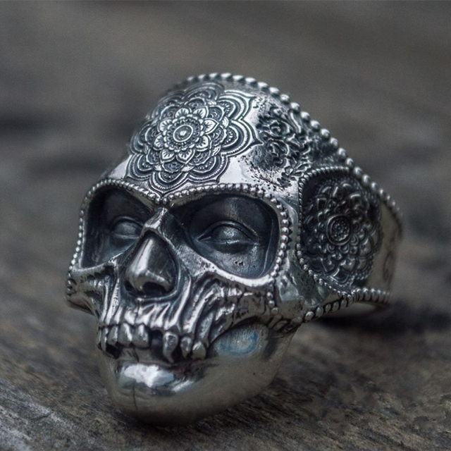 STAINLESS STEEL SUGAR SKULL RINGS