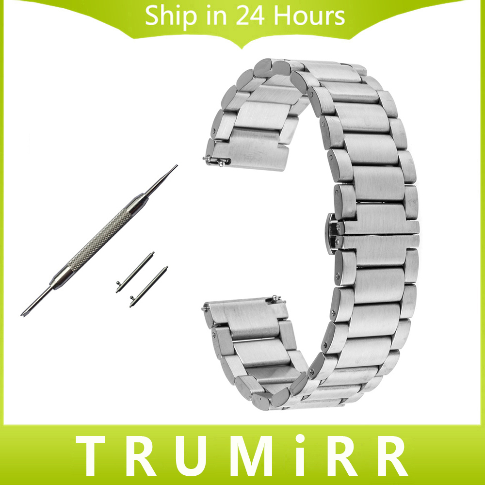 Quick Release Stainless Steel Watch Band for Cartier Tank Solo Santos Butterfly Buckle Strap Wrist Bracelet 16mm 18mm 20mm 22mm