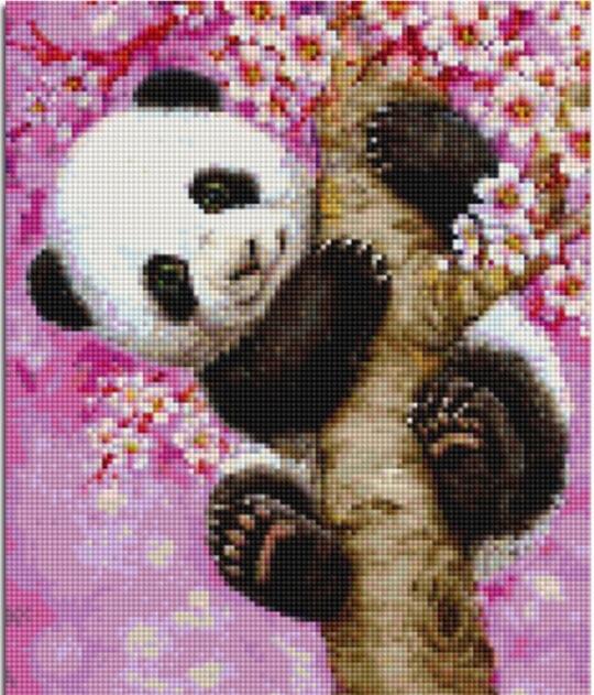 5d poze pietre broderie diamant Panda arbore DIY pictură de diamant - Arte, meșteșuguri și cusut