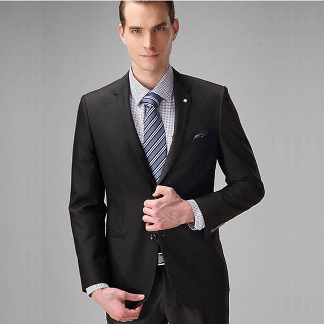Porter Slim Marié Noir Quotidien Sur Mesure Cravate multi Bal Smokings 2017 Fit De Hommes Costumes Mariage vestes Marron dîner Jeunes Travail Pantalon PHXzww