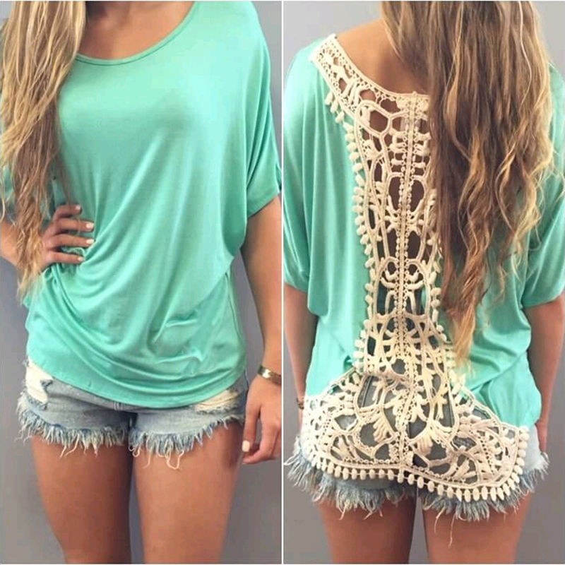 Summer Lace Womens Sleeveless Party Evening Cocktail Tops Blouse Short Sleeve Ladies Green Chiffon Shirts 2017 New