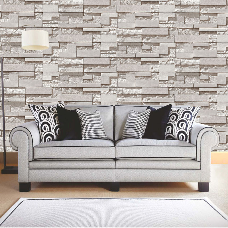 Modern Stacked brick 3d stone wallpaper roll grey brick wall background for living room pvc vinyl wall paper stereoscopic look beibehang pvc wood stone brick wallpaper roll 3d modern wall paper luxury classic vintage for living room background wall decor