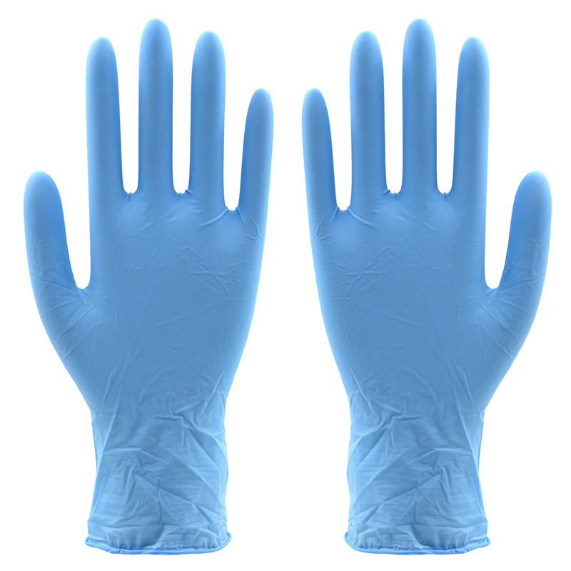 The new 2018 nitrile gloves thick food the disposable latex gloves oil resistant and durable guantes50 double/package new 100x industrial disposable nitrile latex gloves powder free small medium large workplace safety