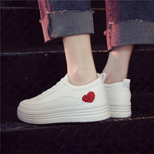 White Shoes Woman Sneakers Platform Winter Fur Sneakers Women New Spring Retro Girl Glitter Platform Casual Shoes Women Trainers(China)