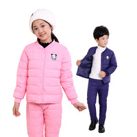 2017 New Winter Jacket Liner Set Kids Children Male And Female Trousers Tong Baobao Jacket Jacket