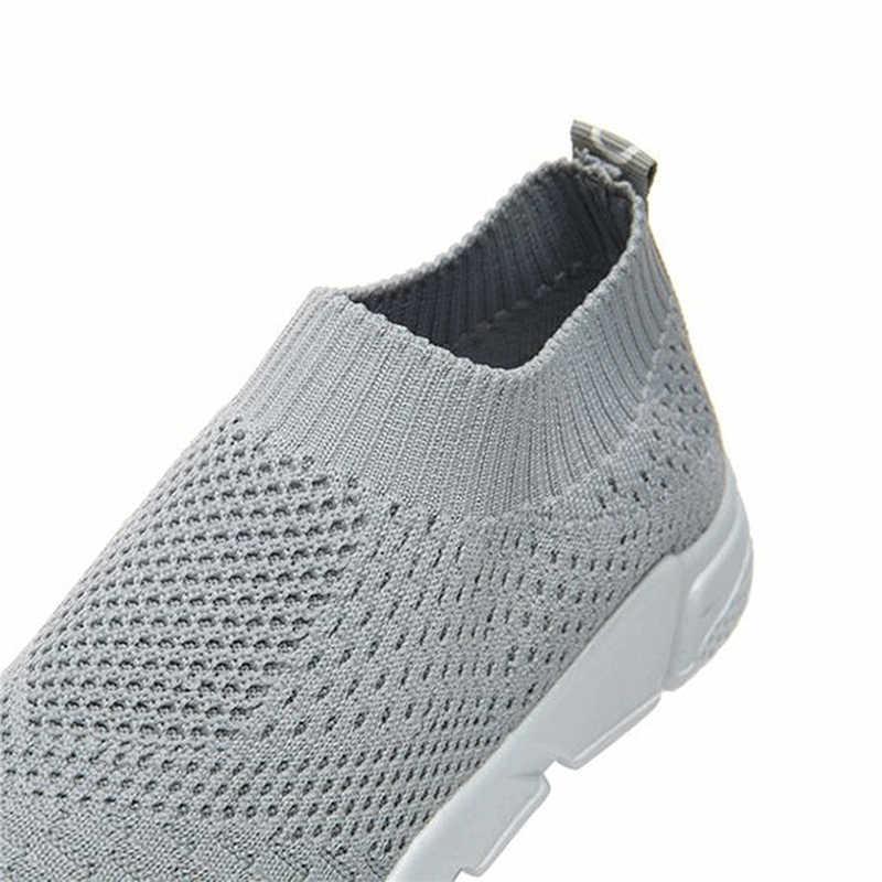 Frauen Schuhe 2019 Neue Turnschuhe Frauen Atmungs Slip Auf Flache Schuhe Weichen Boden Weiße Turnschuhe Casual Frauen Wohnungen Krasovki