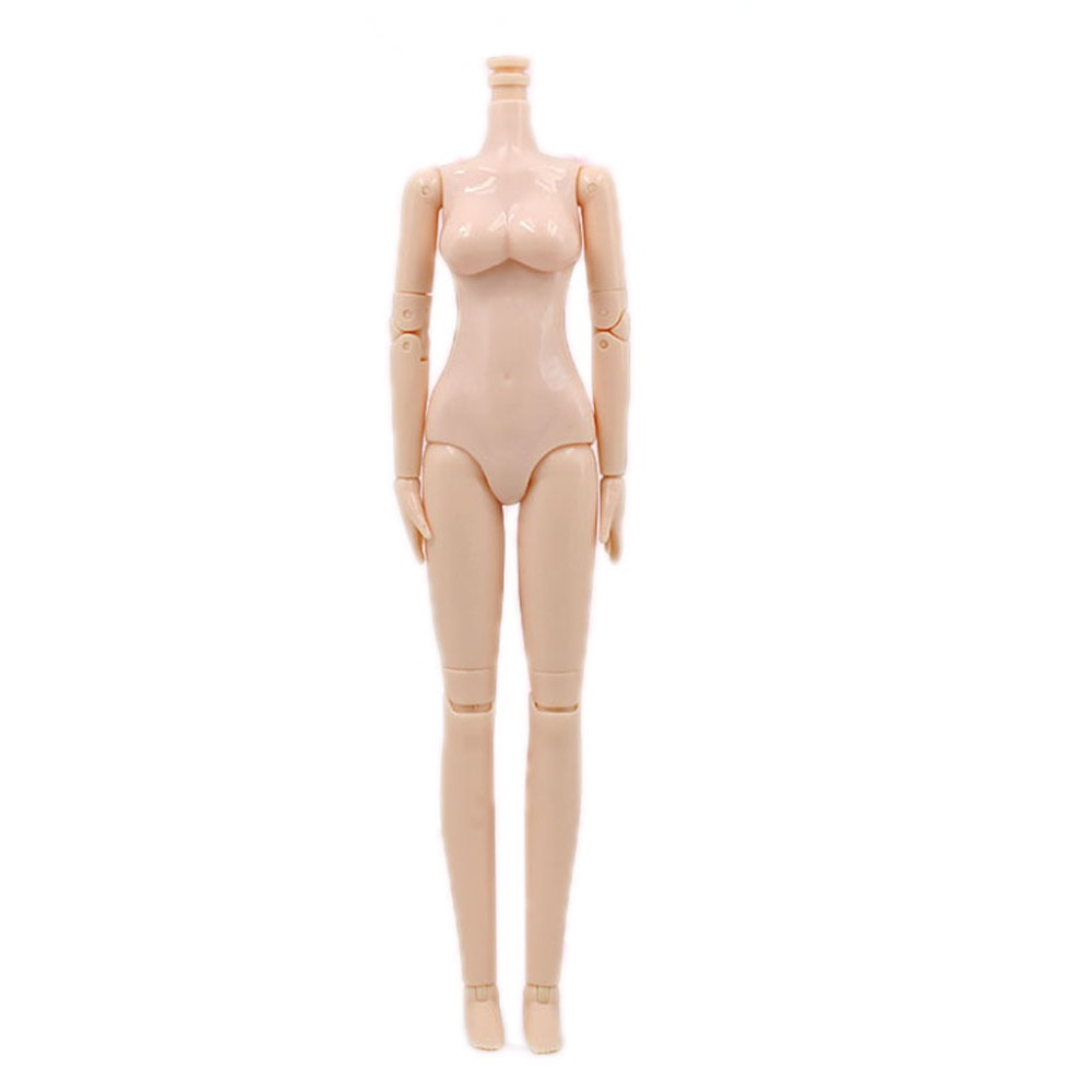 For 12 Neo Nude Blyth Doll Doll body with Flexible 30 joints blygirl blyth doll golden wave curls doll no 31bl74 joints body 19 joints normal skin the hand can be rotated