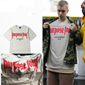 2016 Vfiles Justin Bieber Fear of God Purpose Tour Tee Hip Hop T Shirt  Men Kanye Yeezus Purpose  palace Merch Oversized T-shirt