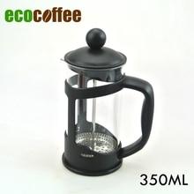 Eco kaffee zubehör kostenloser versand 350 ml kaffee französisch drücken kaffee plunger