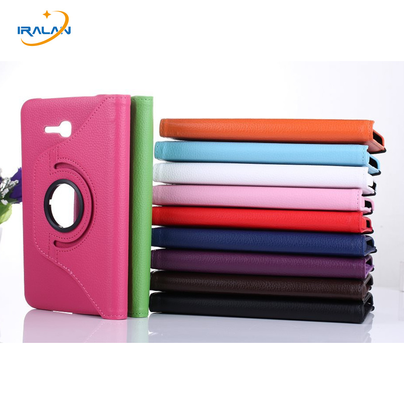 360 Rotating Smart Leather Case for samsung galaxy Tab 3 Lite 7.0 T110 T111/T113 T116 Tablet Stand Flip Folio Cover+stylus+film 360 rotating flip leather stand cover tablet case for samsung galaxy tab e 9 6 t560 t561 with tpu x line case screen film stylus