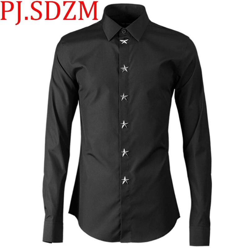 Punk T Shirt Men Black knitted Long Tshirt Minimalist Diablo Warrior Detachable Long Sleeve T shirt