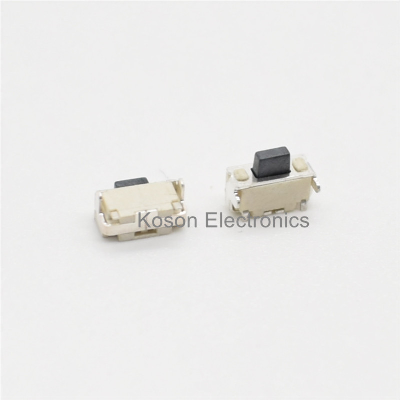 100Pcs Touch micro switch With Bracket 2*4*3.5MM Side Button Push Button Switch 2x4x3.5