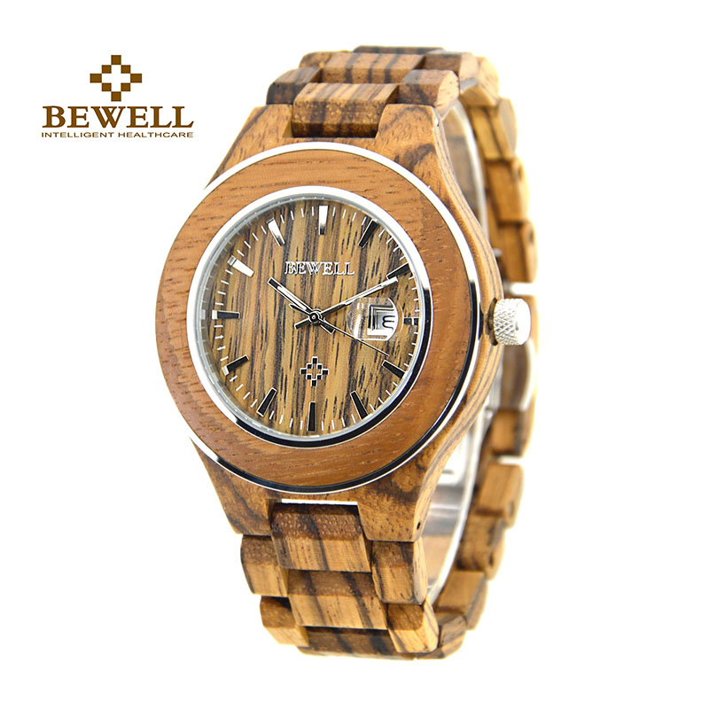 BEWELL Wooden watch Men's Watch Brand Design Luxury Quartz Analog Calendar Show Boy Watch Fashion Black Friday 2017 100AG ultra luxury 2 3 5 modes german motor watch winder white color wooden black pu leater inside automatic watch winder