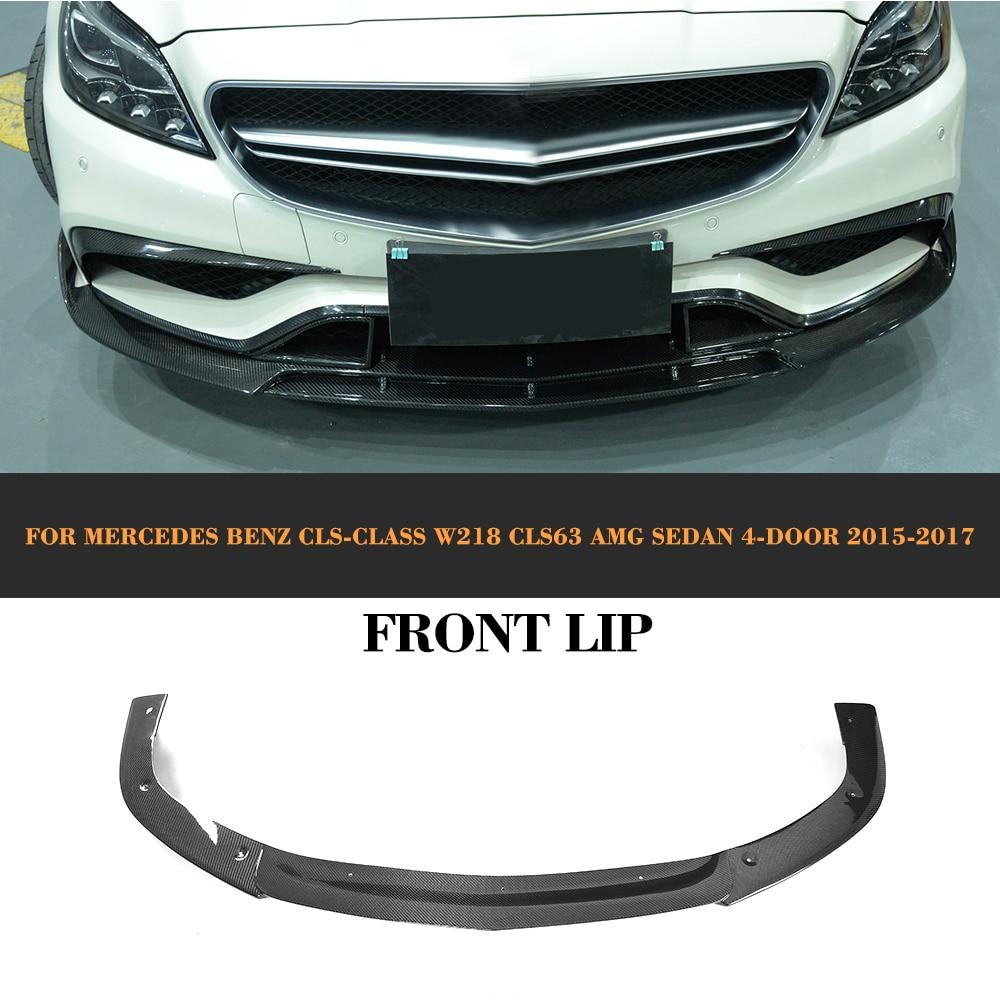cls class carbon fiber car front lip spoiler for mercedes. Black Bedroom Furniture Sets. Home Design Ideas