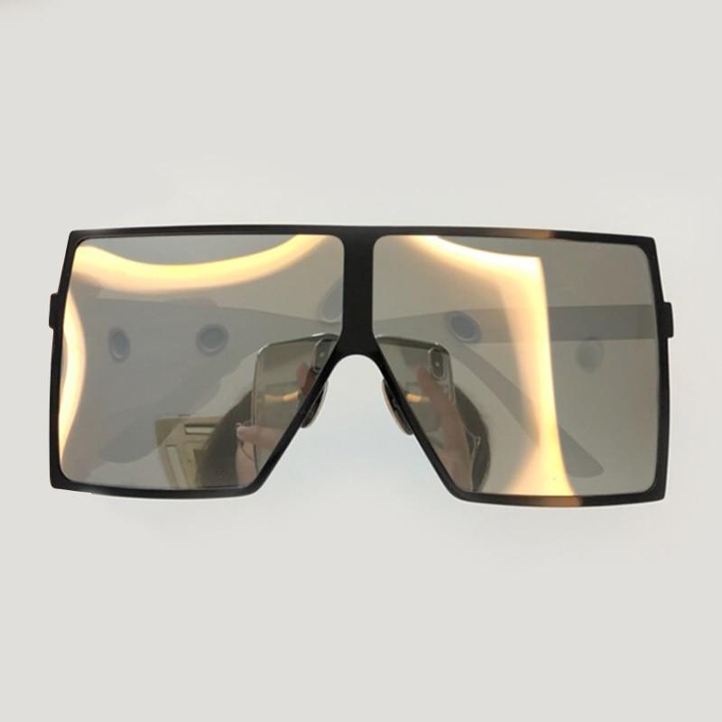 High Quality Women Square Sunglasses Fashion Vintage Big Size Frame Eyewear Oculos De Sol Feminino with