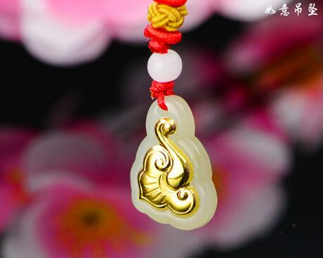 White original Shi Chun hand-carved ruyi pendant bead string necklace charm men and women style childrens style