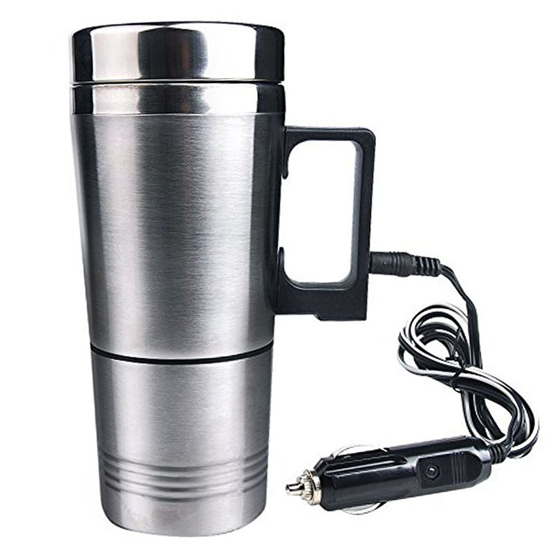 Water Heater Mug Car Electric Kettle Heated Stainless
