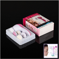 Free Shipping New 5 In 1 Electric Wash Face Machine Facial Pore Cleaner Body Cleaning Massage