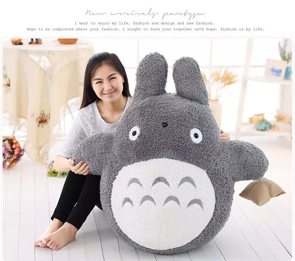 large 100cm cartoon totoro plush toy zongzi totoro hugging pillow ,Christmas gift h664 free shipping about 60cm cartoon totoro plush toy dark grey totoro doll throw pillow christmas gift w4704