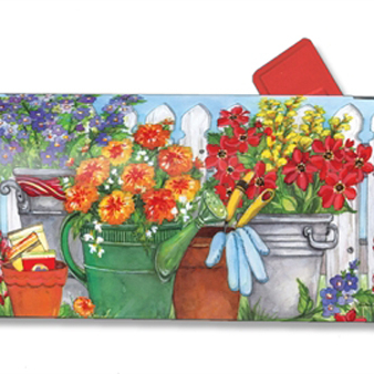 Magnet Works Vintage Watering Can Original Magnetic Mailbox Wrap Cover