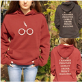 New 2017 Spring ladies girl Harry Potter 's glasses lightning Sweatshirts long sleeve pull  hoodie harajuku casual clothing