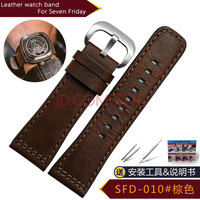 Adapted to SEVENFRIDAY leather watch with P1B/01 P2B/02 men's bracelet 28mm SFD 010# 28mm watch band