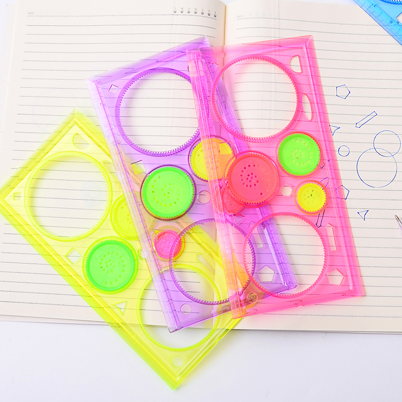 Creative Multifunctional Ruler Spirograph Circle Template Rulers For Kids Student Gift School Supplies Stationery 20cm
