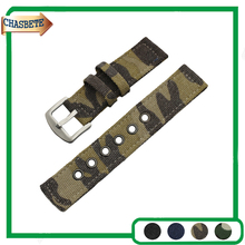 Nylon Fabric Nato Watchband for Samsung Gear S3 Classic / Frontier 22mm Men Women Canvas Strap Wrist Belt Loop Bracelet Blue