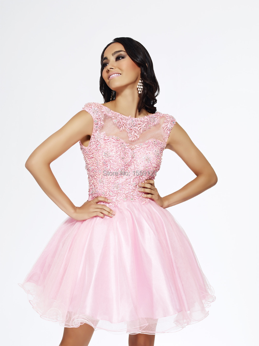 Pink Short Sequin Dress